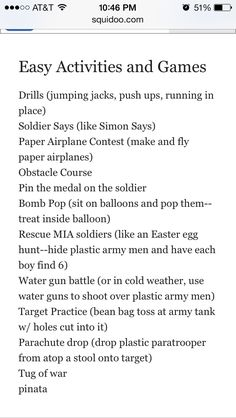 This list would be so cool to do one of these each week for a program that has to do with training
