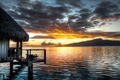 Sunrise over Tahiti - Moorea, French Polynesia