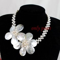 Free Shipping Pearl Necklace Shell Necklace Statement by OnlyPearl