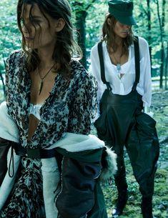 Sara Blomqvist & Lena Hardt by Paola Kudacki for Vogue Spain November 2014 | The Fashionography