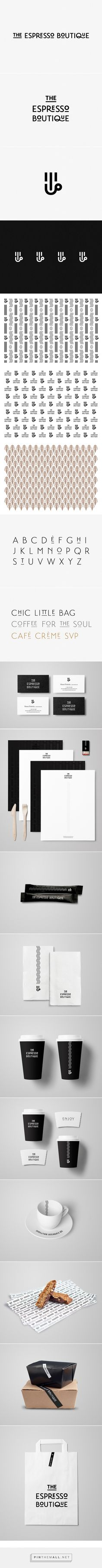 The Espresso Boutique identity packaging branding by Estudio Menta curated by Packaging Diva PD. Let's grab a cup of coffee.