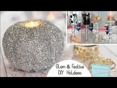 We make our own Mod Podge for these DIY glitter bowls because we're DIY superstars and we don't live within walking distance of a place that sells it. Diy Candle Lantern, Diy Candle Holders, Foam Pumpkins, Glitter Pumpkins, Diy Fest, Diy Lampe, Pumpkin Candles, Dollar Store Halloween, Diy Room Decor