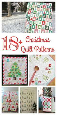 My Favorite Christmas Quilt Patterns - a variety of fresh, contemporary Christmas quilt patterns and tutorials. #Christmasquilt #Christmasquilttutorial #quiltpattern