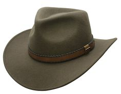 34342e8097eb8 Conner Hats Men s Outback Creek Crushable Wool Hat