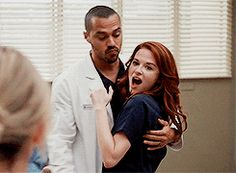 GIF - Jackson and April celebrating the baby - 12x11 #JaprilTheMovie #Japril #GreysAnatomy