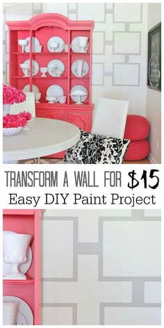Painted Wall Treatment Idea (on a budget)