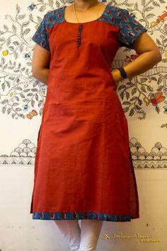 Nb Salwar Neck Patterns, Salwar Neck Designs, Churidar Designs, Kurta Neck Design, Dress Neck Designs, Blouse Designs, Kalamkari Designs, Traditional Fashion, Casual Work Outfits