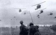 Combat assault in the Vietnam War.