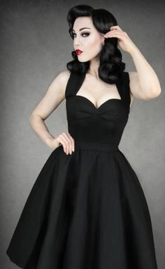 Black swing dress - bridesmaids