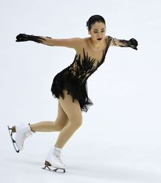 Japan's Mao Asada performs during her short program at the Finlandia Trophy event, her first competition of the season, in Espoo, Finland, on Oct. 6, 2016. Asada, noted for her triple axel jumps, did not attempt the jump in the program and placed second while Russian Anna Pogorilaya came top. (Kyodo) (2051×2336)