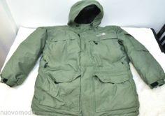 e44d66c7b Mens THE NORTH FACE Green Goose Down Parka Hooded Puffer Coat Jacket 3XL  XXXL Down