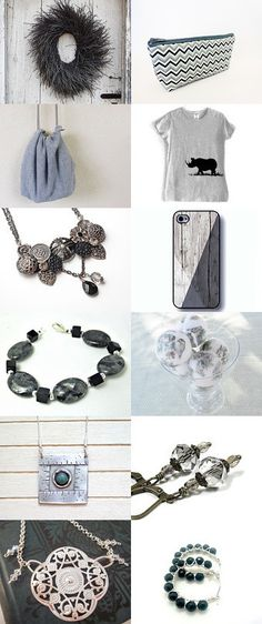 Just greys by Osnat Ganor on Etsy--Pinned with TreasuryPin.com
