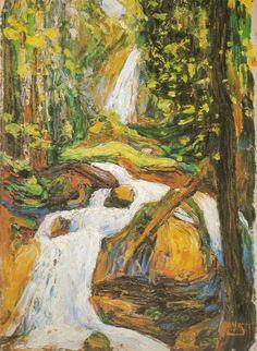 Wassily Kandinsky — Kochel: Waterfall I, 1900, Wassily Kandinsky