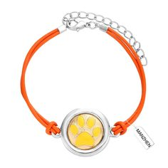 MANZHEN Adjustable Dog Paw Print Charm Bracelet Leather Bracelet Gift for Puppy Lovers * Check out this great product.