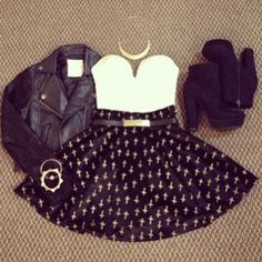 fun night out outfit. PERFECT for a movie night