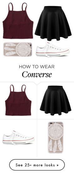 """@rhiannonpsayer"" by sarahcb2002 on Polyvore featuring Aéropostale and Converse"