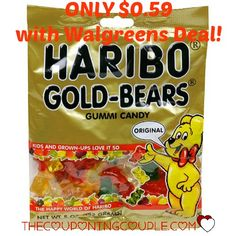 Wow! I love these! Get a bag of Haribo Candy for only $0.59 with a $0.30/1 Haribo coupon and a Walgreens deal!  Click the link below to get all of the details ► http://www.thecouponingcouple.com/haribo-candy-only-0-59-with-walgreens-deal/  #Coupons #Couponing #CouponCommunity Visit us at http://www.thecouponingcouple.com for more great posts!