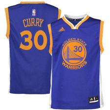 34051acd2 adidas Stephen Curry Golden State Warriors Youth Royal Blue Road Replica  Jersey Golden State T Shirt