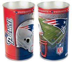 New England Patriots Waste Basket | New England Patriots Trash Can