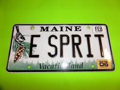 MAINE VANITY LICENSE PLATE CHICKADEE  E SPRIT FIRST CLASS SHIPPING