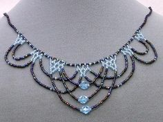 (5) Name: 'Jewelry : Lace Beadwoven Necklace (Style A)