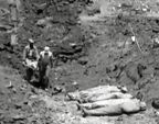 VIDEO of Bodies of US soldiers are buried at 96th Division Cemetery in Okinawa during World War II.