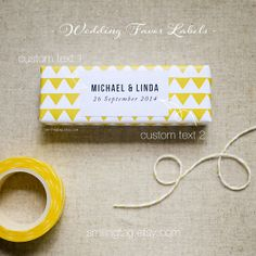NEW Modern Personalized labels  Weddings Favor by SmilingTag, $18.00