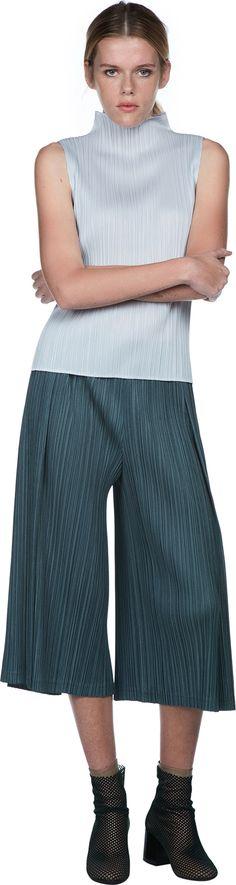 Wide Leg Pleated Pants | Issey Miyake PLEATS PLEASE | LOIT