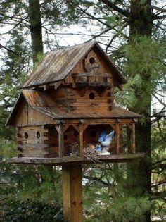 Rustic+Birdhouses | rustic birdhouse - by okwoodshop @ LumberJocks.com ~ woodworking ...