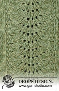 Knitted jumper with raglan in 2 strands DROPS Air. The piece is worked top down with wave pattern and moss stitch. Sizes S - XXXL.Ravelry: Clover pattern by DROPS design Free Aran Knitting Patterns, Jumper Knitting Pattern, Knitting Machine Patterns, Knitting Stiches, Lace Knitting, Knitting Designs, Finger Knitting, Knitting Tutorials, Drops Patterns