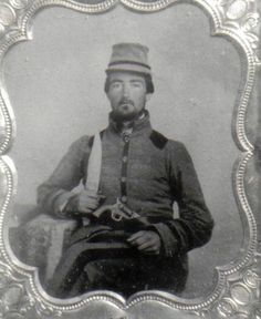 "Pvt. Cicero Davis, Company G, ""Columbia Guards"", 6th Arkansas Infantry.  He was wounded at Shiloh and discharged due to his wounds on 9 April 1862."