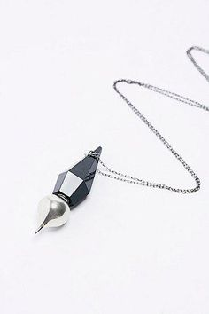 Unearthen Root Chakra Perfume Pendulum Necklace With Black Agate #jewelry #women #covetme #unearthen