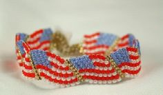 Want to know how to make this awesome weaved flag bracelet.