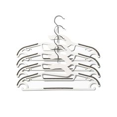 Let's hang! Special design on these hangers prevents stretching on clothing and features multiple hooks to hang just about anything.
