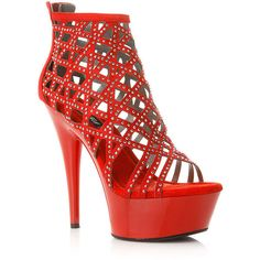 CiCiHot Wild DNA Caged Open Toe Platform Heels ($41) ❤ liked on Polyvore featuring shoes, pumps, heels, caged pumps, platform pumps, rhinestone heel pumps, special occasion shoes and open toe platform shoes