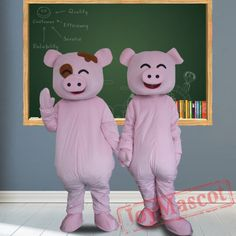 Happy Pig Mascot Costumes for Adult Pig Costumes, Mascot Costumes, Adult Costumes, Happy Pig, Adult Children, Dinosaur Stuffed Animal, Character Design, Things To Sell, Moana