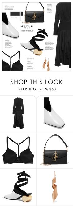 """""""J.W.ANDERSON Suede-trimmed leather pumps"""" by mako87 ❤ liked on Polyvore featuring J.W. Anderson, Calvin Klein Underwear, STELLA McCARTNEY and jwanderson"""