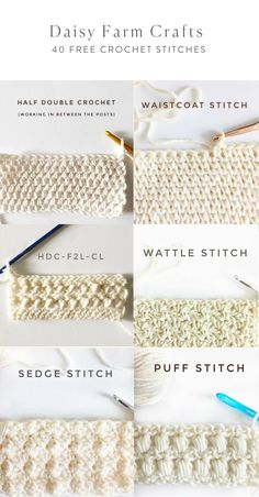 40 Free Crochet Stit