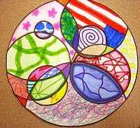 Circles Math Art - minimum requirements within larger circle.  Good for Grade 6.