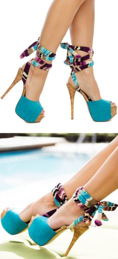 Kameelah Ankle Tie Heels ♡ Dream Shoes, Crazy Shoes, Me Too Shoes, Hot Shoes, Shoes Heels, Tie Heels, Pumps, Bobbies Shoes, Sexy Heels