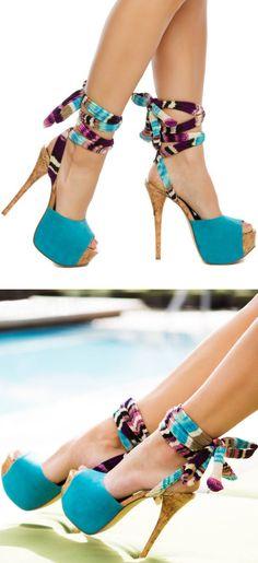Kameelah Ankle Tie Heels ♡