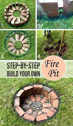 12 Easy and Cheap DIY Outdoor Fire Pit Ideas - The Handy Mano - - Give your garden something special for summer with a DIY fire pit. These outdoor fire pit ideas include designs for any size of garden, so get DIY-ing! Fire Pit Backyard, Small Garden Fire Pit, Diy Garden Decor, Garden Art, Herb Garden, Fence Garden, Garden Club, Terrace Garden, Garden Crafts