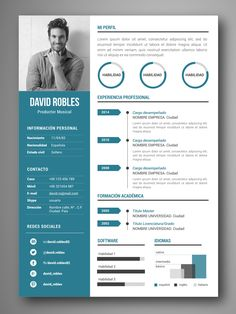 mejores plantillas curriculum infografia word VIGO If you like this cv template. Check others on my CV template board :) Thanks for sharing! Creative Cv Template, Cv Resume Template, Resume Design Template, Creative Cv Design, Free Resume, Design Design, Icones Cv, Word Cv, Curriculum Template