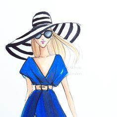 #fashionillustration #fashionillustrator #beachhat #copicart #copicmarkers #fashionsketch #bostonblogger