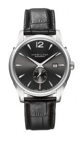064462f08226 Hamilton Jazzmaster Slim Petite Seconde Auto Black  Grey Dial Stainless  Steel Mens Watch BY Hamilton