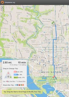 New Columbia Heights: New bike trip planning tool, based on editable web maps!