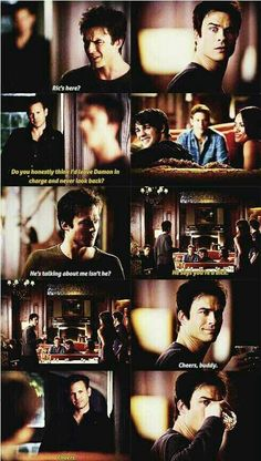 The Vampire Diaries Damon's face= hilarious tear inducing laughter