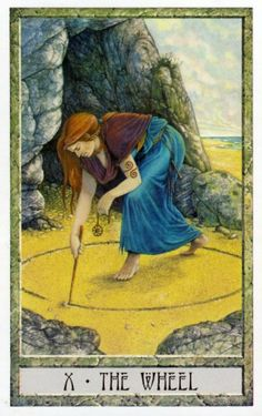 10 - The Wheel ~ Tarot des Druides : Philip & Stephanie Carr-Gomm