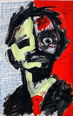 """Matt Sesow - """"you can't be what you were"""" Bizarre Art, Creepy Art, Weird Art, Dope Art, Outsider Art, Horror Art, Surreal Art, Graphic, Figurative Art"""