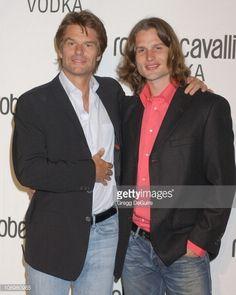 Harry Hamlin and son Dimitri Hamlin during Fashion Designer Roberto Cavalli Celebrates The Launch Of 'Roberto Cavalli Vodka' Arrivals at Private...